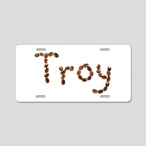 Troy Coffee Beans Aluminum License Plate