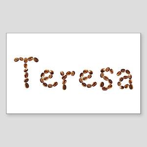 Teresa Coffee Beans Rectangle Sticker