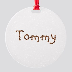 Tommy Coffee Beans Round Ornament