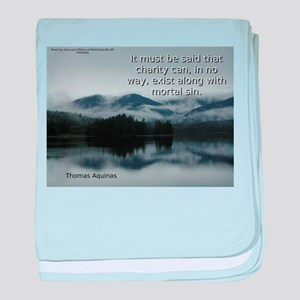 It Must Be Said - Thomas Aquinas baby blanket