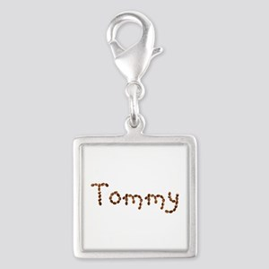 Tommy Coffee Beans Silver Square Charm