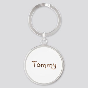 Tommy Coffee Beans Round Keychain