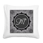 Luna Lace Monogram Square Canvas Pillow