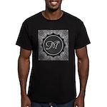 Luna Lace Monogram Men's Fitted T-Shirt (dark)