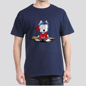 Westie Diamond In The Ruff Dark T-Shirt