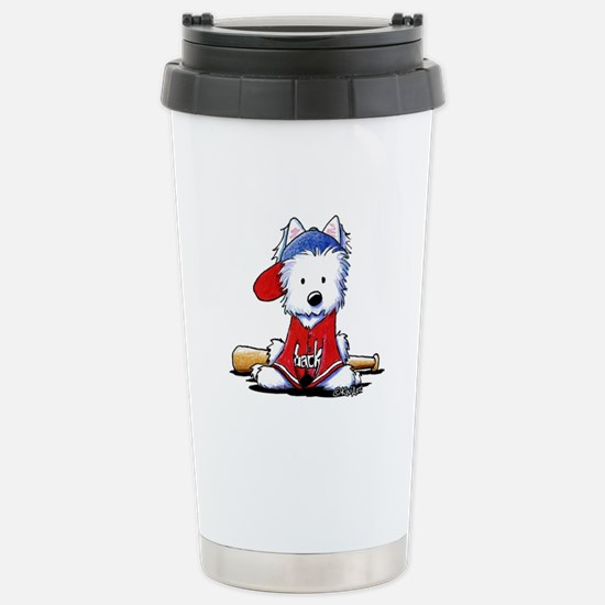 Westie Diamond In The Ruff Stainless Steel Travel