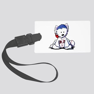 Westie Terrier Fan Large Luggage Tag