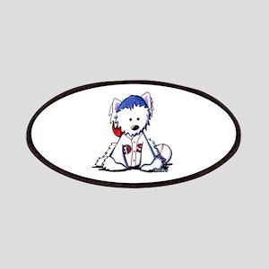 Westie Terrier Fan Patches