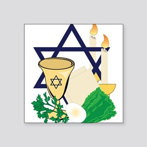 "Jewish Passover Square Sticker 3"" x 3"""