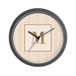Laced Bisque Carre Monogram Wall Clock
