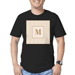 Laced Bisque Carre Monogram Men's Fitted T-Shirt (