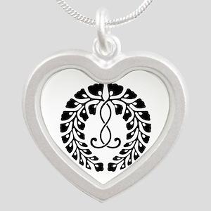 Kujo wisteria Silver Heart Necklace