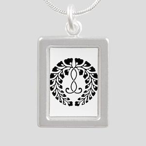 Kujo wisteria Silver Portrait Necklace