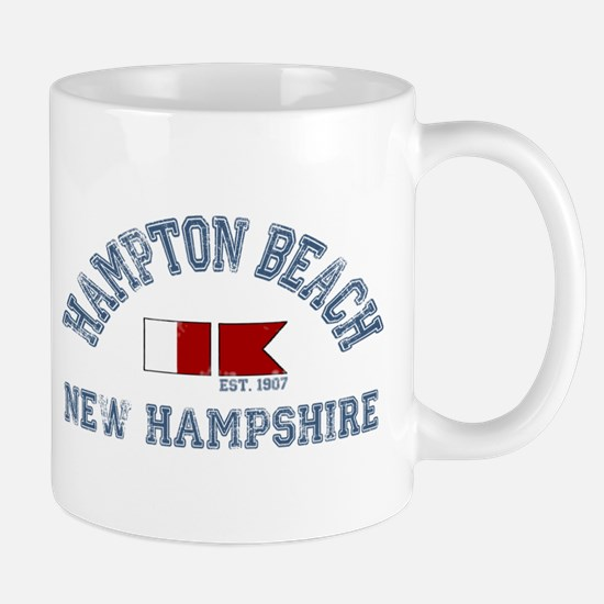 Hampton Beach NH - Nautical Design. Mug