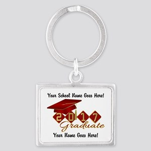 Graduate 2017 Red Gold Keychains