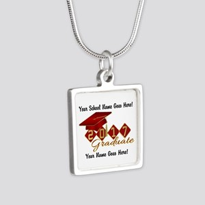 Graduate 2017 Red Gold Necklaces