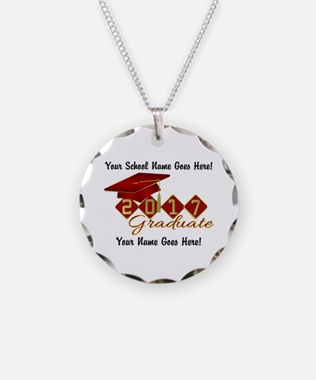 Graduate 2017 Red Gold Necklace