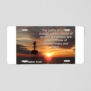 The Paths Of Virtue - Sir Walter Scott Aluminum Li