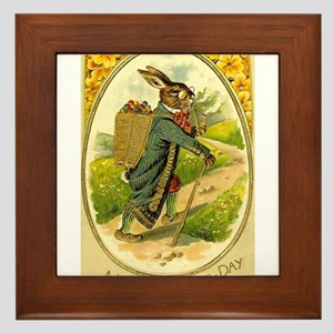 Standing Easter Bunny Rabbit Dressed Cane pipe Fra