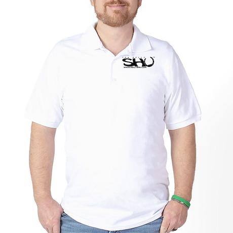 Kelly SHU dot com logo Golf Shirt