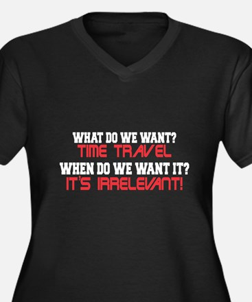 What Do We Want? Time Travel! Women's Plus Size V-