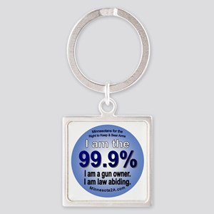 I am the 99.9% - MN Square Keychain