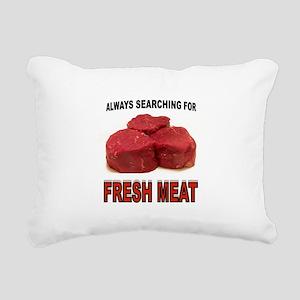 FRESH MEATS Rectangular Canvas Pillow