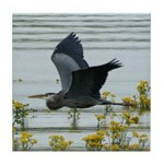 Flying Heron Tile Coaster