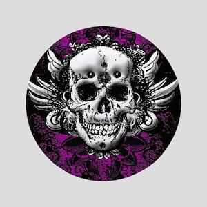 """Grunge Skull 3.5"""" Button"""