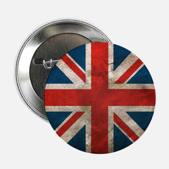"UK British English Union Jack 2.25"" Button"