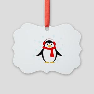 Winter Penguin Picture Ornament