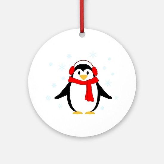 Winter Penguin Ornament (Round)