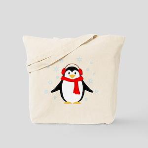 Winter Penguin Tote Bag