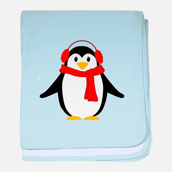 Winter Penguin baby blanket