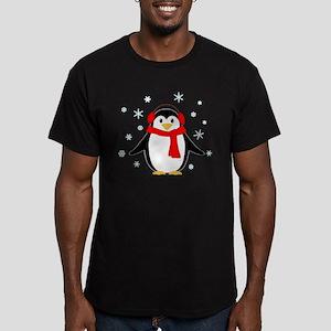 Winter Penguin Men's Fitted T-Shirt (dark)