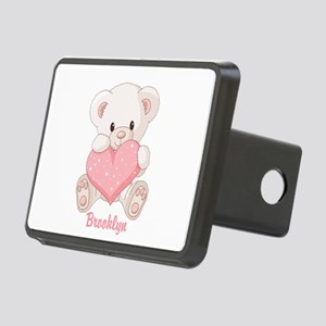 Custom name valentine bear Rectangular Hitch Cover