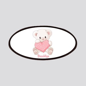 Custom name valentine bear Patches
