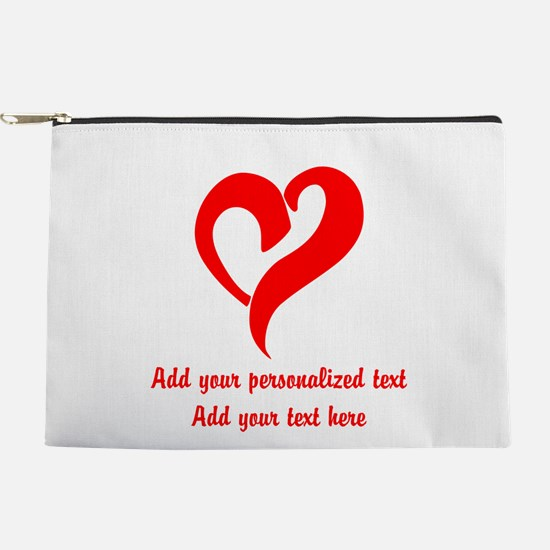 Red Heart Personalized Makeup Pouch