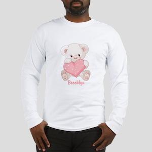 Custom name valentine bear Long Sleeve T-Shirt