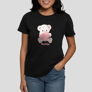 Custom name valentine bear Women's Dark T-Shirt