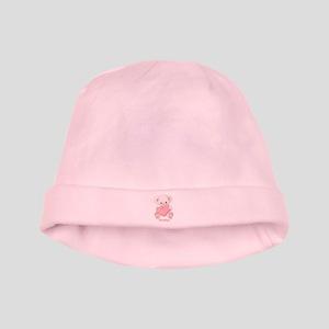 Custom name valentine bear baby hat