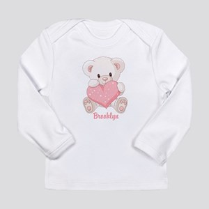 Custom name valentine bear Long Sleeve Infant T-Sh