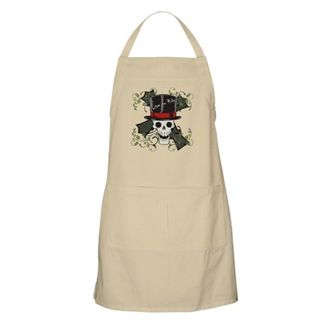 TOP HAT-SKULL CROSS Apron