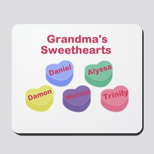 Custom Grand kids sweethearts Mousepad