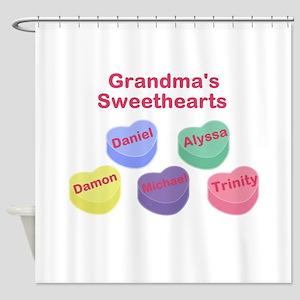 Custom Grand kids sweethearts Shower Curtain