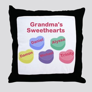 Custom Grand kids sweethearts Throw Pillow