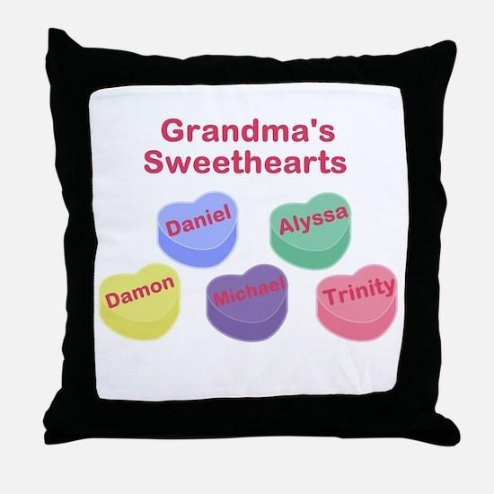 Custom Grand kids sweethearts Throw Pillow
