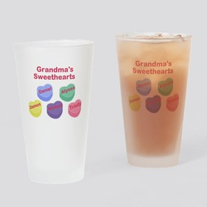 Custom Grand kids sweethearts Drinking Glass