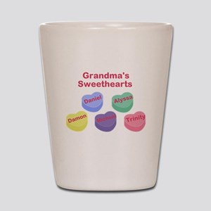 Custom Grand kids sweethearts Shot Glass