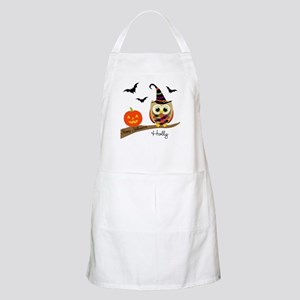 Custom name Halloween owl Apron